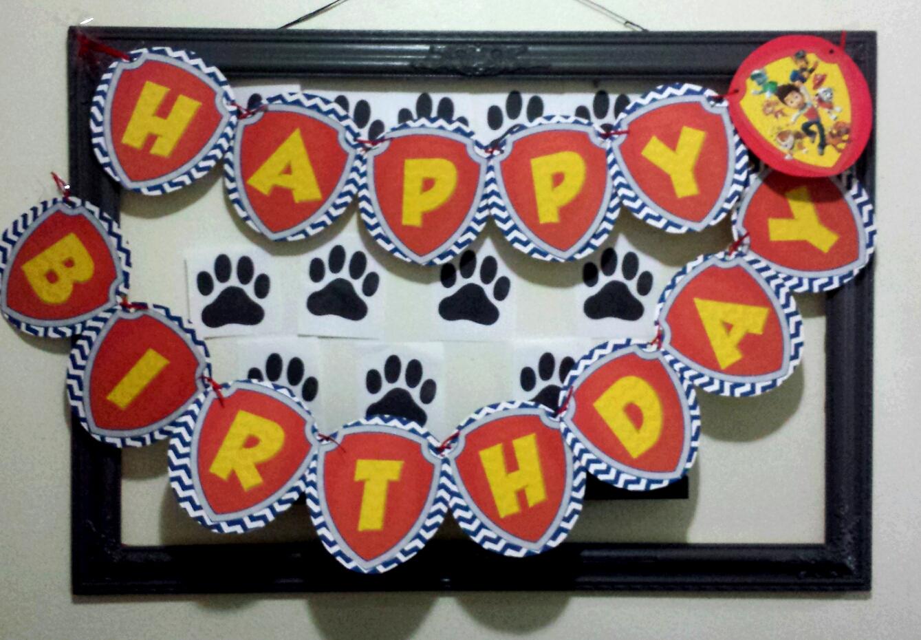 Diy Banner Paw Patrol Birthday